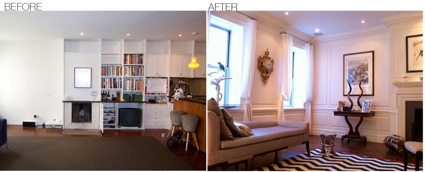 Before after area interior design for Interior design photos